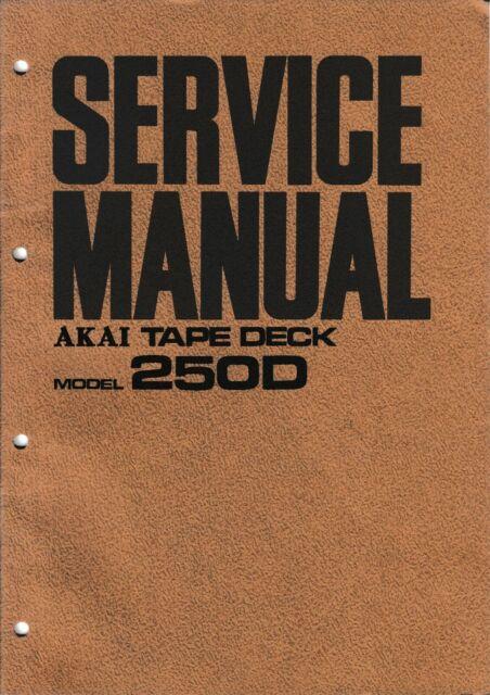 Service Manual For Akai 250 D