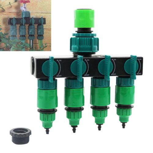 4 Wege Wasserverteiler Wasserhahn Schlauch Ventil Gartenschlauch Rohrverbinder