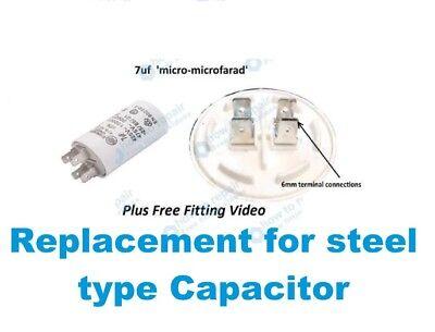Per Asciugatrice Hotpoint 7uF Condensatore CTD00 VTD00 VTD20 CTD40 CTD80 TVM560