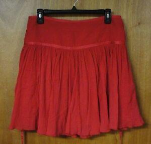 Darling Calvin Klein Red Skirt, Size 6