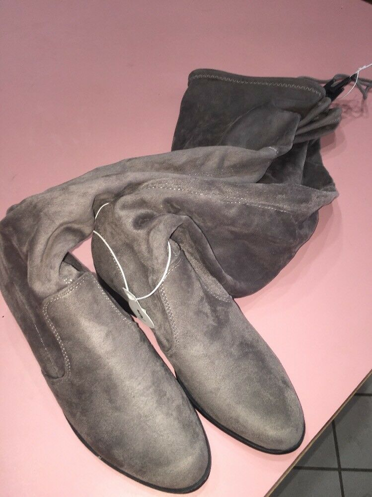 Grau Größe 5 Knee High Fashion Stiefel With One Inch Heel