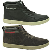 MENS CATERPILLAR CAT ENFIELD LEATHER HI TOP TRAINERS SKATE SHOES BOOTS SIZE 6-11