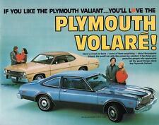 Print. 1977 Plymouth Volare & 1973 Plymouth Valiant Auto Ad
