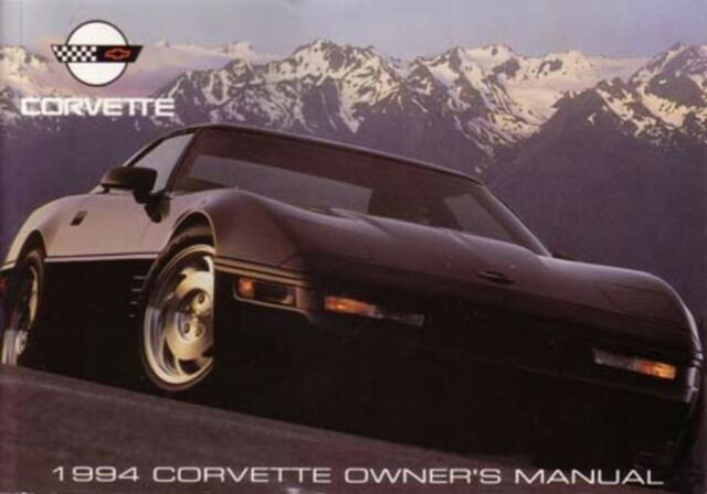 1994 corvette owners manual collection on ebay rh ebay com C4 Corvette Wheels Chevrolet Corvette GTP