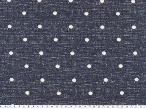 160cm blau-weiß Punkte Viskose-Jersey-Druck