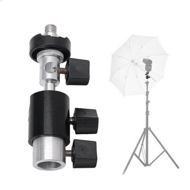 360 Swivel Type D Flash Bracket Hot Shoe Umbrella Stand Holder Tripod 1/4 3/8
