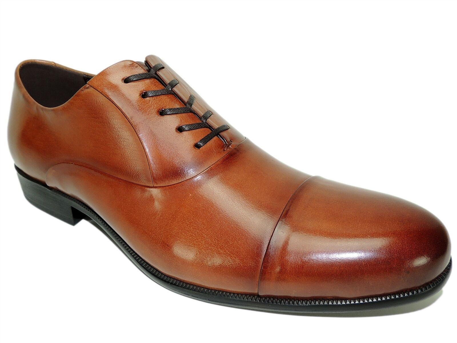 Kenneth Cole New York Men's Chief Council Cap Toe Oxfords Cognac Size 8 M