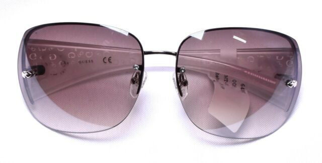 036ea9bf59924 GUESS Women s Rimless Shield Sunglasses White NS for sale online