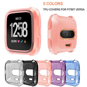 Clear-Transparent-TPU-Cover-For-Fitbit-Versa-Smart-Watch-Protective-Case-Bumper