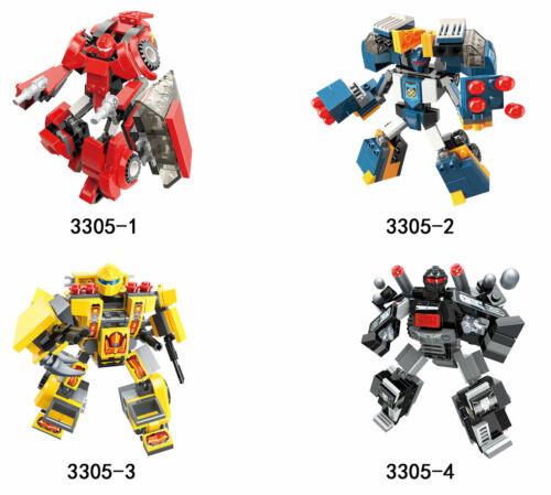 Klemmbausteine  kompatibel   neu Blast Ranger 4er Set Transformer Qman 3305