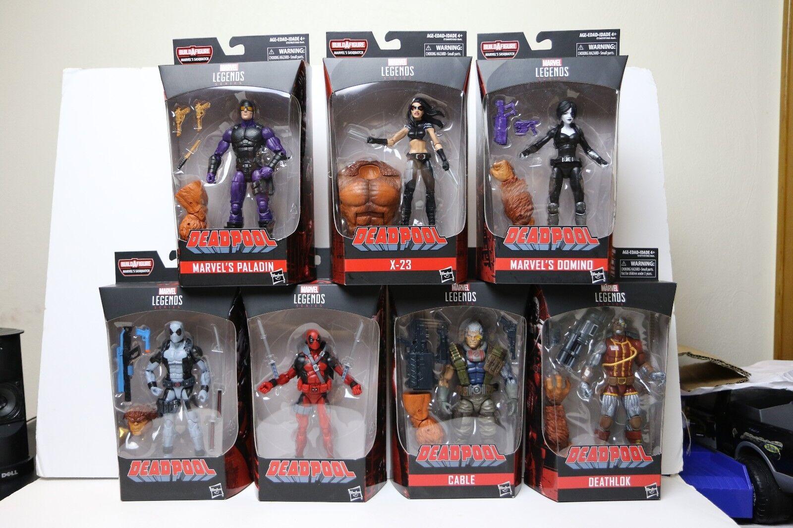 Marvel Legends Deadpool Sasquatch Wave Complete 7 Action Figures NEW