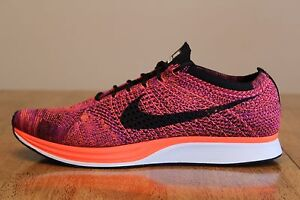 b65b385108a79 18 New Mens Nike Flyknit Racer 526628-008 Acai Berry Running Shoes ...