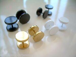 1 Or 2 PCS 16g 2g 0g 00g 1/2 Look Anodized Cheater Ear Plug Earrings Steel
