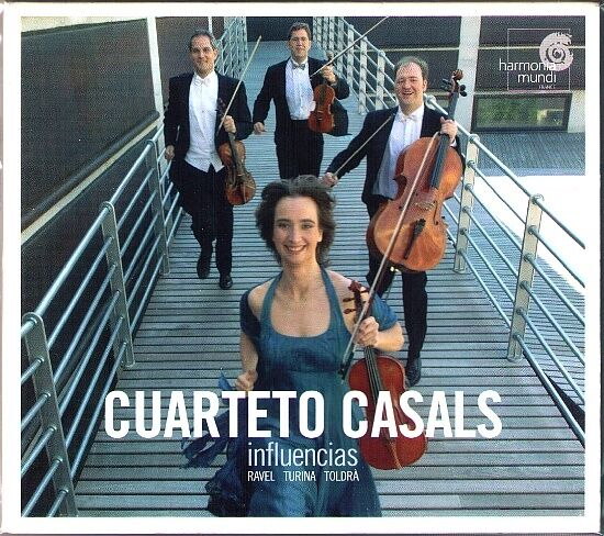 CUARTETO CASALS Influencias RAVEL String Quartet TOLDRA Vistes al mar TURINA CD