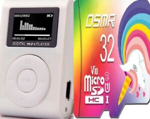 32GB-Mini-Mp3-Player-mit-LCD-Display-plus-32GB-TF-Karte-Speicherkarte-Micro-SD