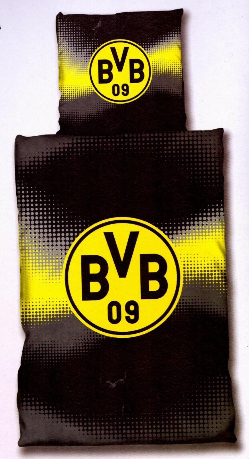 Borussia Dortmund BVB 09  Mikrofaser Bettwäsche 135 x 200 cm 100 % Polyester