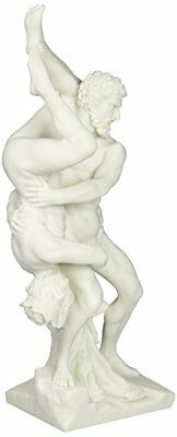 Mythological Twelve Labors Hercules Throws Diomedes Bonded Natural Marble Statue