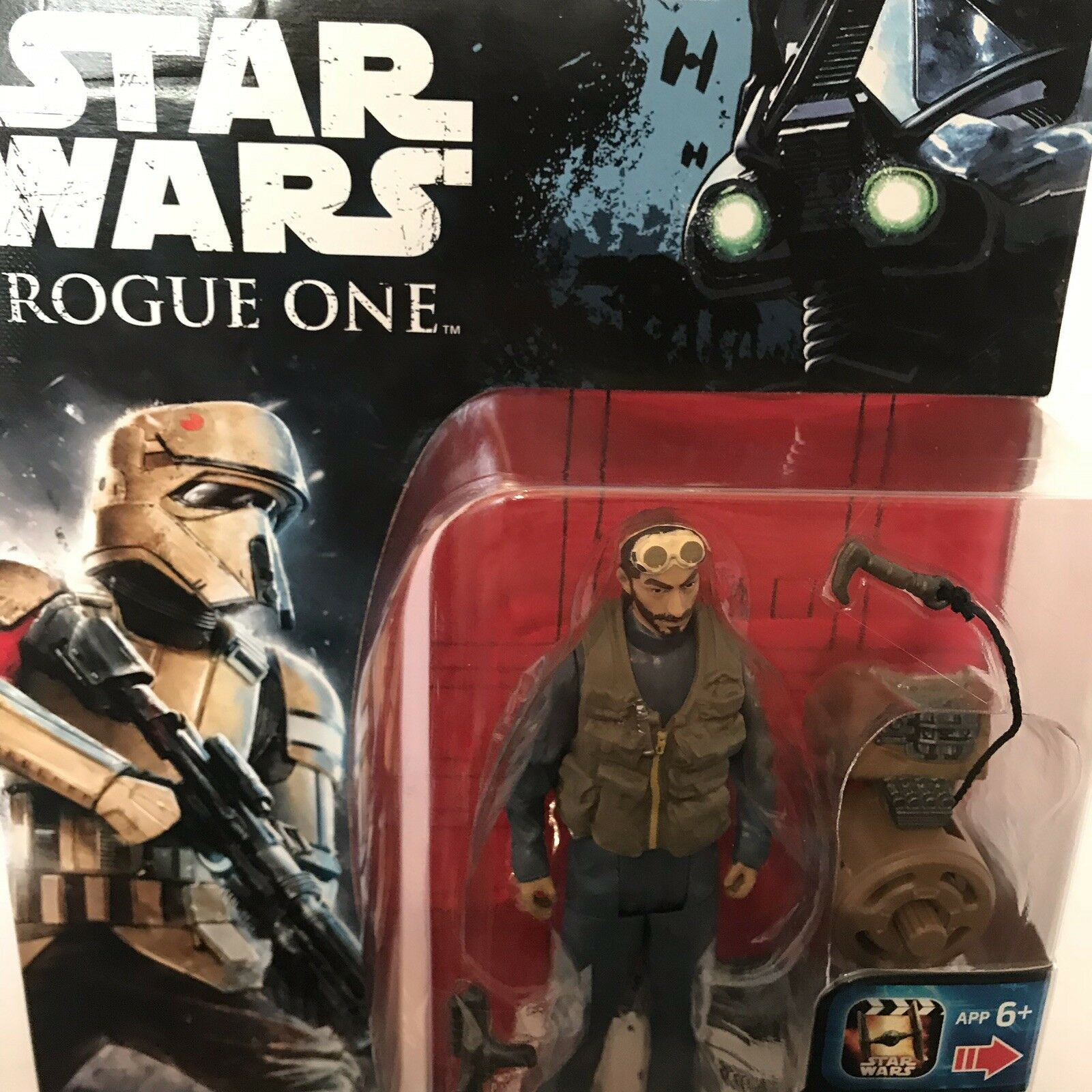 Star Wars VERY RARE FACTORY ERROR CARD Shore Trooper Rogue One Action Figure