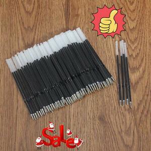 10pcs Ballpoint Pen Refills 0.5mm Overstriking Gel Refill Black Pens Ink V4J8