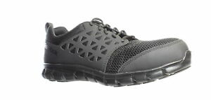 Reebok-Mens-Rb4039-Sublite-Cushion-Black-Safety-Shoes-Size-8-Wide-1259698