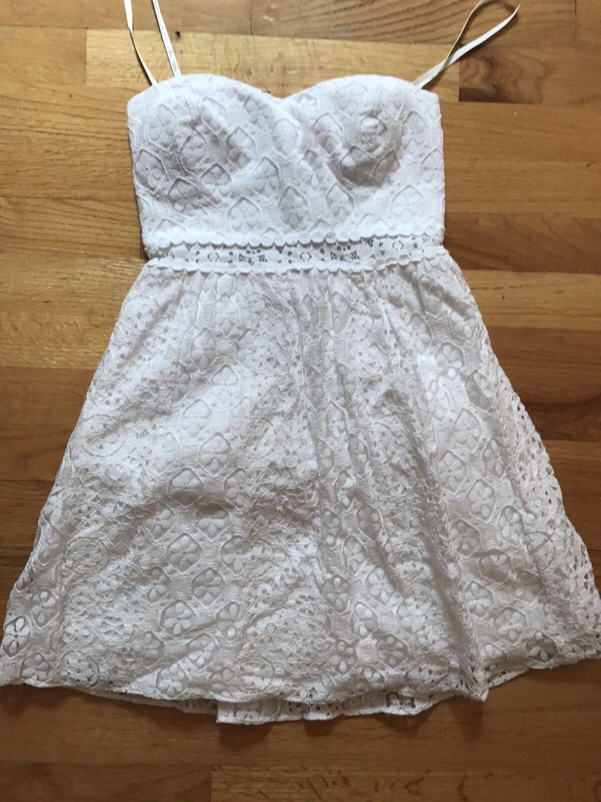 Lily Pulitzer Weiß Strapless Dress, Brett Dress, XS