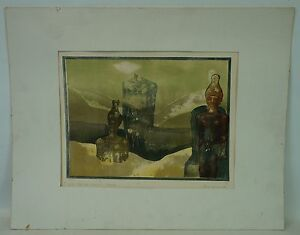 Valley-of-the-Kings-Egypt-Egyptian-strelanet-1976-Aquatint-Etching