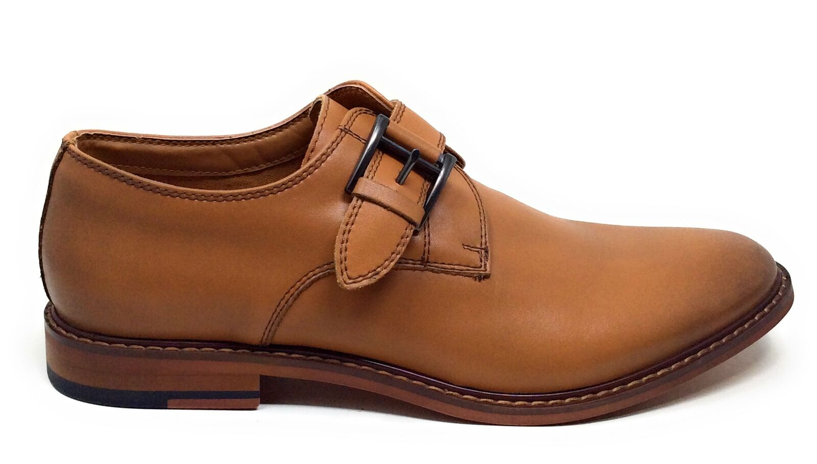 J75 By Jump Mens Parlay DRK Monk Strap Oxford Dress Shoes Tan Size 9 M US