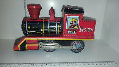 """(lotto 248 A) Vintage Daiya Made In Japan Tin Locomotiva Western"""" 0741""""-mostra Il Titolo Originale Prestazioni Superiori"""