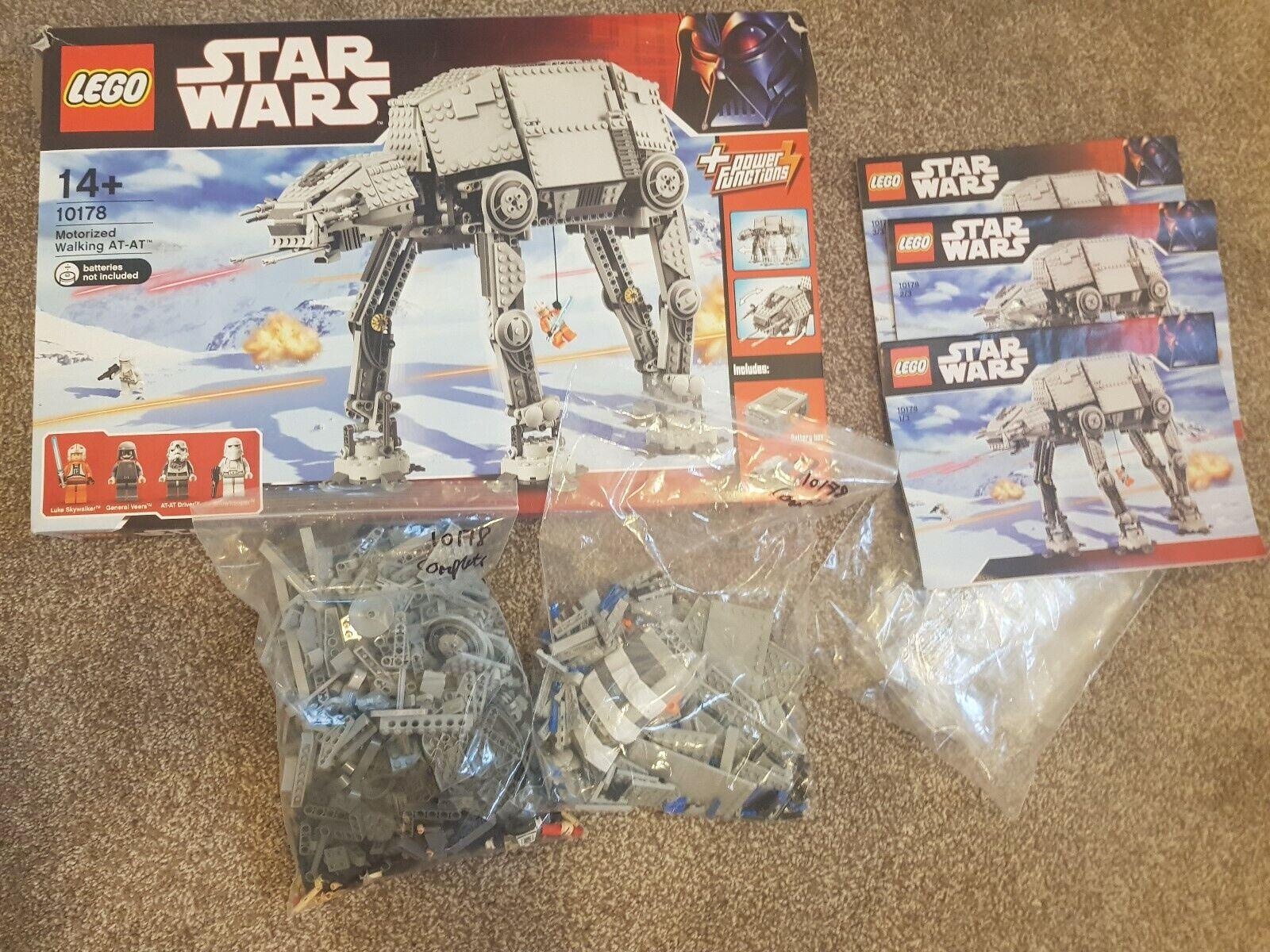 Lego Star Wars 10178 Motorized en  marchant AT-AT complete boxed Luke Skywalker UCS  réduction en ligne