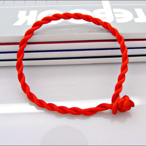 FR/_50X cordon STRING KABBALAH LUCKY BRACELETS contre le mauvais oeil pour red bl
