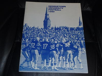 1980 GEORGETOWN COLLEGE FOOTBALL MEDIA GUIDE EX-MINT BOX ...