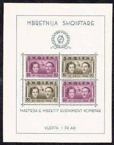 Albania-1938-Bf-2-matrimonio-Re-Zogu-I-Mnh
