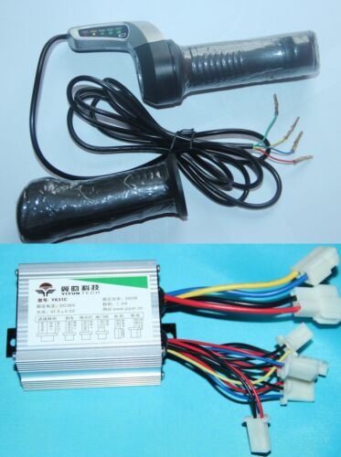 36v 500W DC Motor Brushed Speed Controller+Throttle Twist Grip for scooter Razor