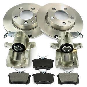 2x-Bremssattel-Bremsscheiben-Bremsbelaege-hinten-Audi-A3-Seat-Cordoba-VW-Polo