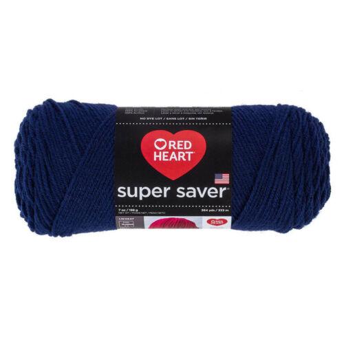 Red Heart Super Saver YARN • SOFT NAVY BLUE • 7 OZ198 g364 YDS333m E300