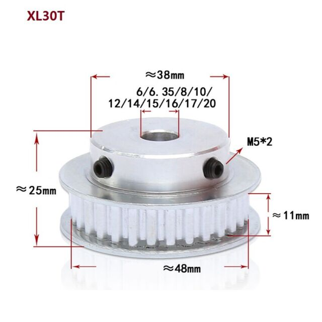 50-370XL Timing Pulley Belt Close Loop Synchronous Belt Width 10mm Pitch 5.08mm