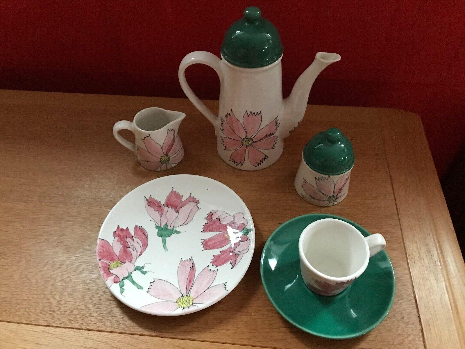 Italienische Keramik Kaffee Set 6 teilig  mit exklusiver Handmalerei  ️ ️