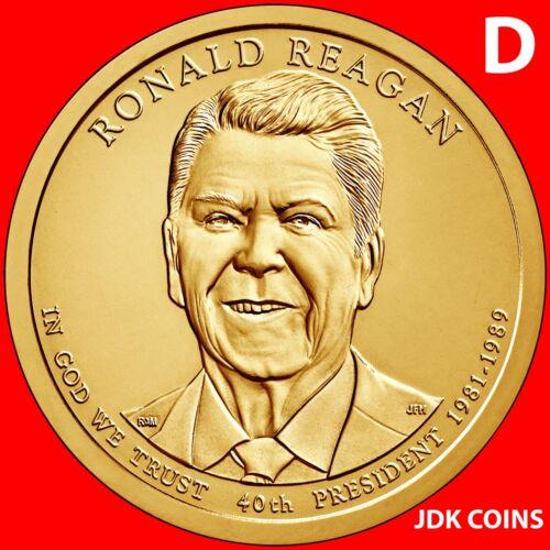 2016-D RONALD REAGAN PRESIDENTIAL DOLLAR FROM MINT ROLLS UNCIRCULATED