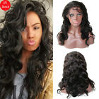 Soft Unprocessed Brazilian Virgin Human Hair Full Lace Wig Lace Front Wigs Black