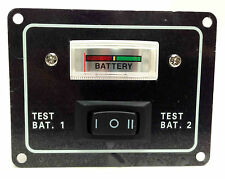 MARINE BOAT ALUMINUM PLATE VOLTMETER BATTERY TEST SWITCH 12VDC