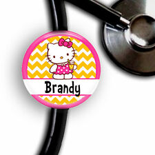 PERSONALIZED HELLO KITTY SUMMER STETHOSCOPE ID TAG