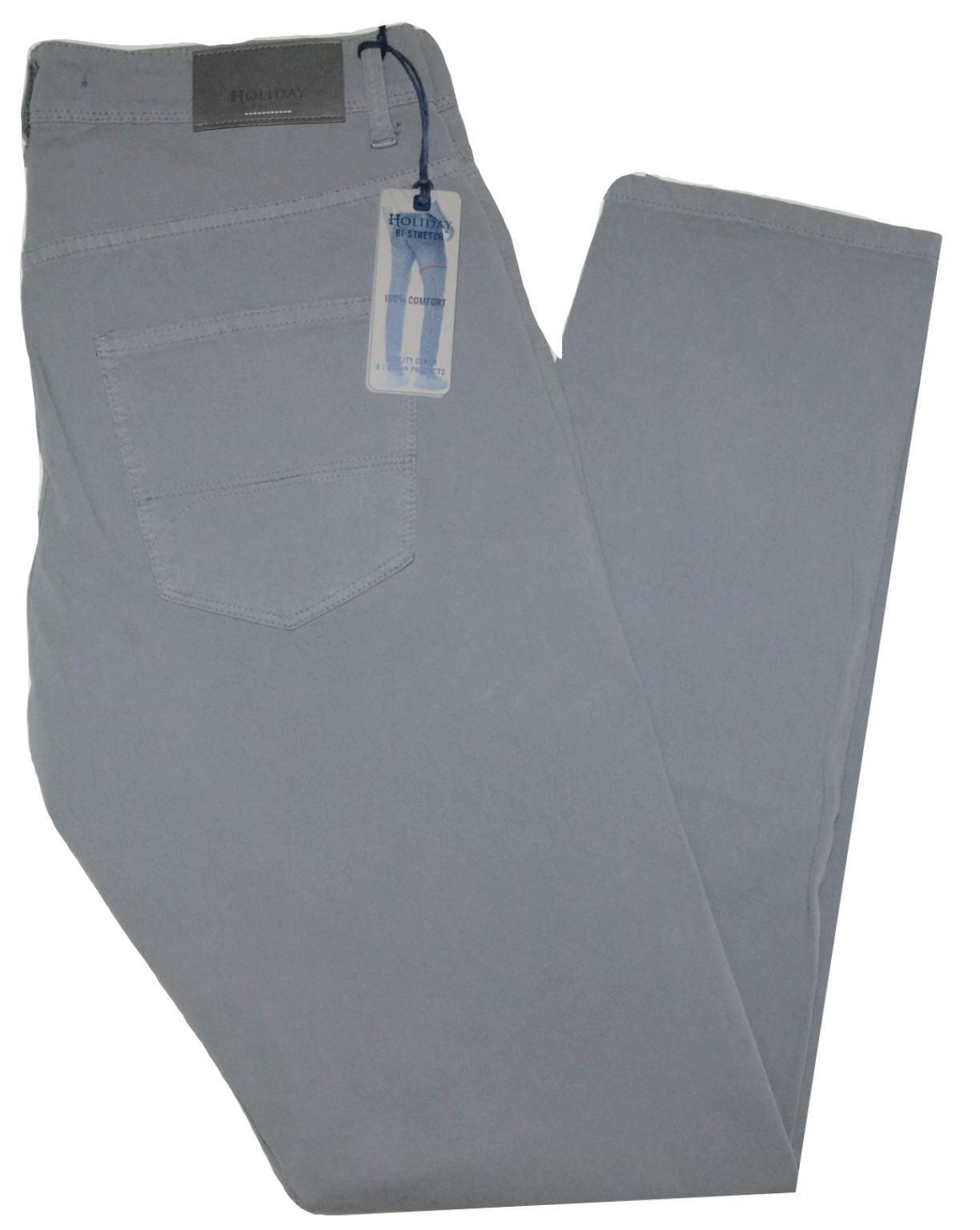 Men's trousers HOLIDAY slim 46 48 50 52 54 56 58 60 cotton bielastic SIPI grey