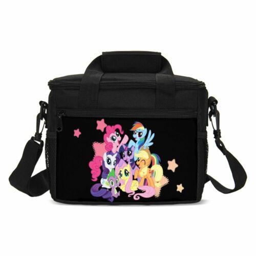My Little Pony Girls Cute Large School Backpack Set Lunch Bag Pen Case Lot
