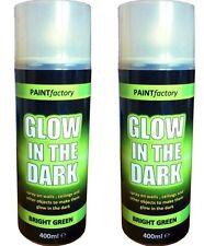 2 x 400ml Glow In The Dark Luminous Bright Green Aerosol Spray Paint