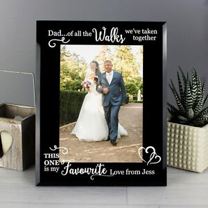 Personalised Father Of The Bride Dad Of All The Walks Glass Frame