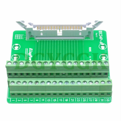 IDC 34pin port plug adapter connector header Terminal Breakout PCB Board 2 row
