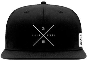 Image is loading Cold-Steel-Embroidered-Classic-Stylish-Black-Cap-94HCSX- d6f2e9b6513