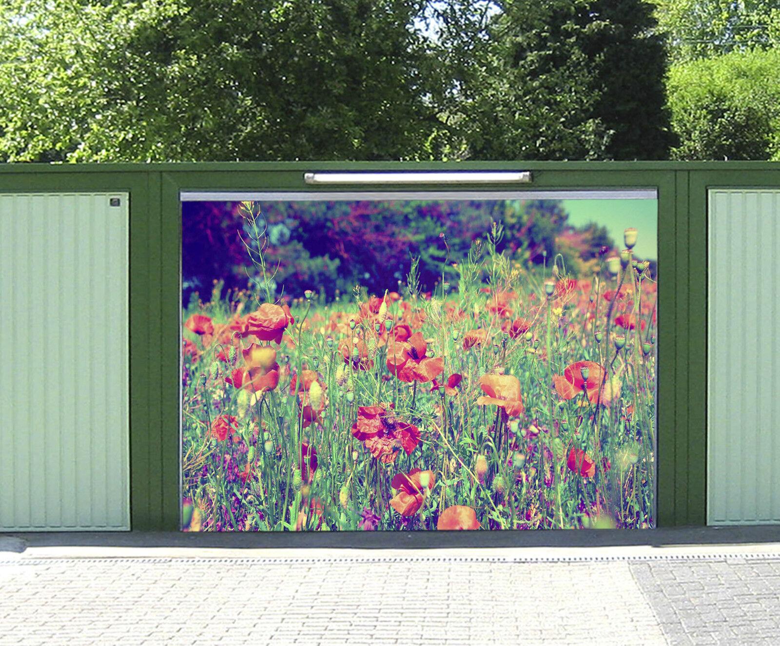 3D Erba Fiori 515 Garage Porta Stampe Parete Decorazione Murale AJ WALLPAPER IT