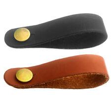 Brown Acoustic Guitar Headstock Adapter Strap Tie+2 BK Blocks for Ukulele Bass