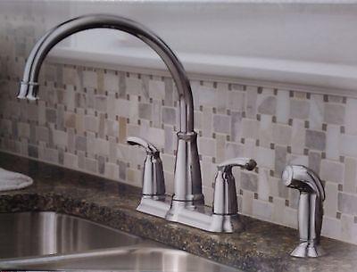 Moen Bexley Chrome 2 Handle High Arc Standard Kitchen Faucet 87403 26508874035 Ebay